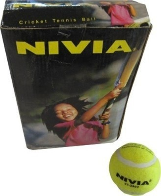 Nivia Cricket Tennis Ball Cricket Ball -   Size: Standard(Pack of 6, Yellow)  available at flipkart for Rs.365