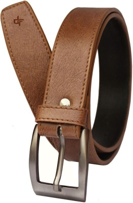 DFashion Men Tan Artificial Leather Belt