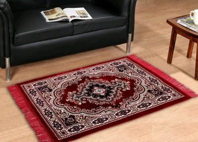 KH Maroon Chenille Carpet(145 cm  X 205 cm) at flipkart