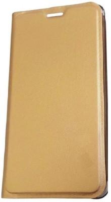 Hutz Flip Cover for Motorola Moto G5 Plus(32GB)(Gold, Leather, Plastic)