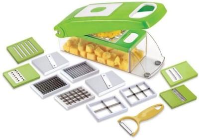 Dealsnbuy BM 12 IN 1 NICER DICER SLICER GRATER UNbreakable Vegetable & Fruit Grater & Slicer(Pack of 13)