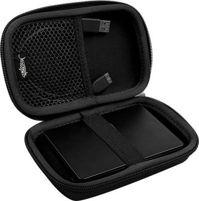 SmartFish [DEFENDER] 2.5 inch Hard Disk Case(For All 2.5 inch hard drive & Travel Accessories, Black)