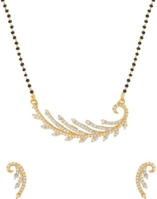 Navrang Brass Jewel Set(Gold) at flipkart