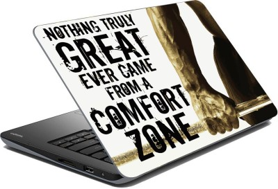 Vprint Nothing is great come from cimfirt zone Vinyl Laptop Decal 13