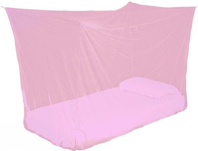 Ans Nylon Infants Plain Single Bed Mosquito Net(Pink)  available at flipkart for Rs.345