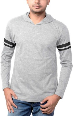 Wear Your Opinion Striped Men's Round Neck Grey T-Shirt