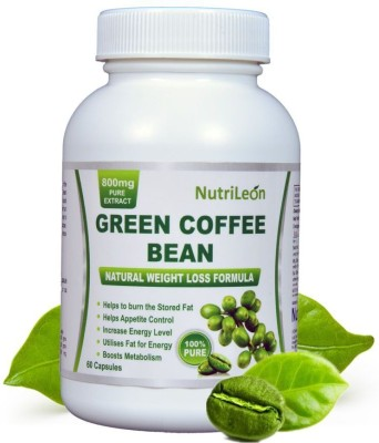 NutriLeon Green Coffee beans for weight loss 800 mg 60...