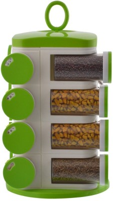 Wud Kraft    16 ml Plastic Spice Container Pack of 16, Green