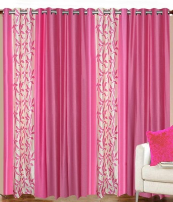 Achintya Polyester Red Floral Eyelet Door Curtain(213 cm in Height, (6.9 ft), Pack of 4) at flipkart