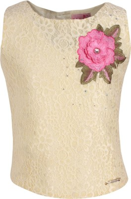 Cutecumber Baby Girls Party Lace Crop Top(White, Pack of 1) Flipkart