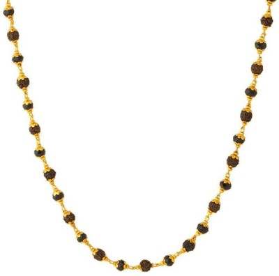 Dare for Voylla Artificial Classic Textured Crystal Yellow Gold Plated Brass Chain at flipkart