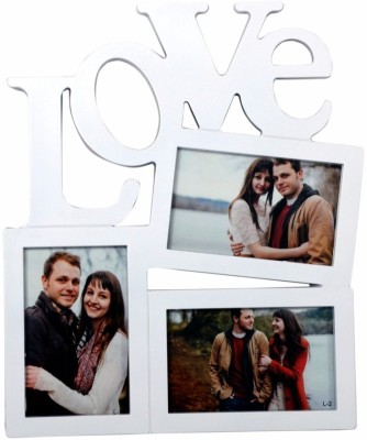 Archies Frames Generic Photo Frame(White, 3 Photos) at flipkart