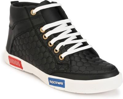 PISHOPPERS Sneakers For Men(Black)