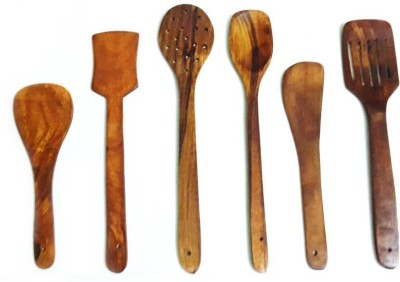 india wooden handicraft wooden spoon Disposable Wooden Wooden Spoon Set(Pack of 6) at flipkart