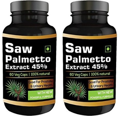 Perennial Lifesciences Saw Palmetto Extract 45% 450 mg Supplements (60 Capsules, Pack of 2)