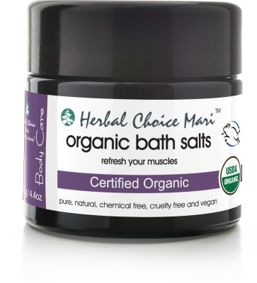 Herbal Choice Mari Organic Bath Salts Refresh Your Muscles Glass Jar(125 g)