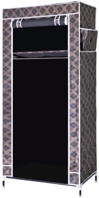2bf3b3ce66a Evana Small Black Plaid Carbon Steel Collapsible Wardrobe(Finish Color -  Black)