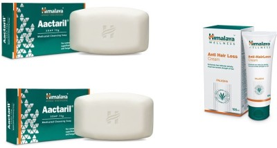 Himalaya ANTI HAIR LOSS CREAM(100 ML) WITH Aactaril medicated cleansing soap (150G)(Set of 3)  available at flipkart for Rs.480