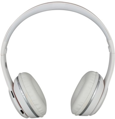06c39085ccb 5PLUS MB4W Wired & Wireless bluetooth Headphones(White, Over the Ear)