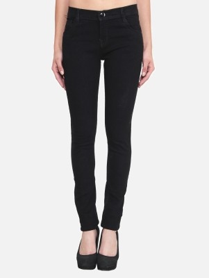 Crease & Clips Slim Women's Black Jeans