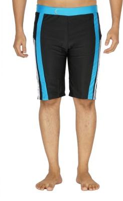 SSB Striped Men's Black, Blue Swim Shorts