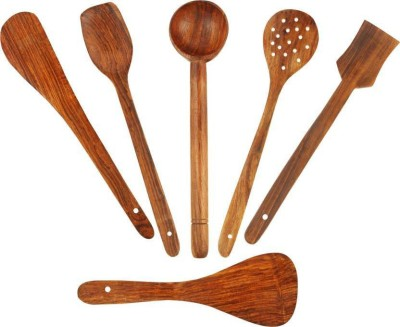 india wooden handicraft wooden spoon Disposable Wooden Wooden Spoon Set(Pack of 6) at flipkart