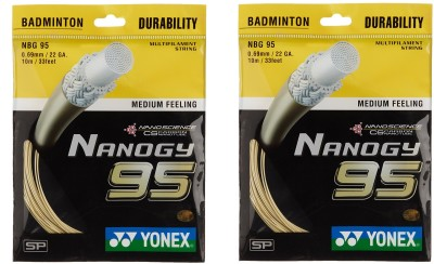 Yonex Nano GY 95 0.69 Badminton String   10 m Gold