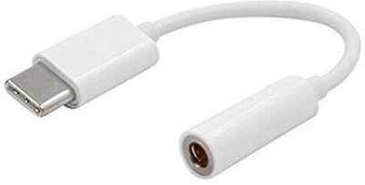 BB4 Type-C Male to Female 3.5mm audio Jack Earphone Headphone USB Adapter(White)