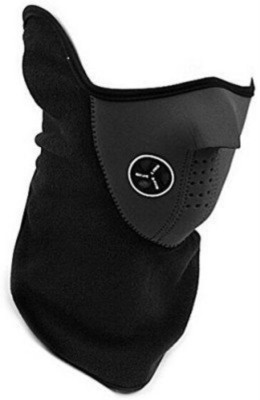 Shrih Black Bike Face Mask for Men(Size: Free,  Balaclava)