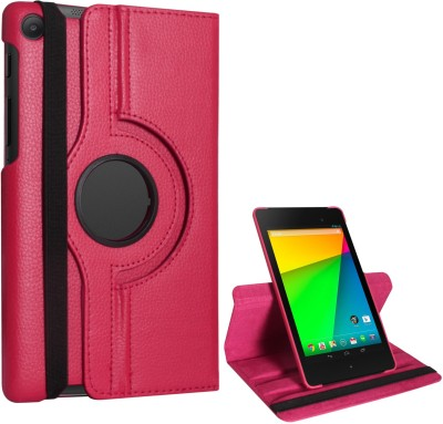 Fastway Book Cover for Asush Google Nexus 7(Pink, Artificial Leather)