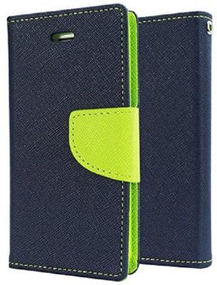 G-case Flip Cover for Motorola Moto E3 Power(Blue, Artificial Leather)