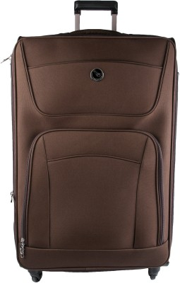 emblem MSE248 Expandable Check in Luggage   24 inch Brown