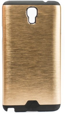 Mystry Box Back Cover for Samsung Galaxy Note 3 Neo N7505(Gold, Rubber, Metal)