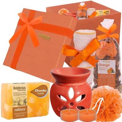 BodyHerbals Orange Soap Spa Set (Orange & Neroli Bathing Bar with Natural Chunks (100 grams)(Set of 6)
