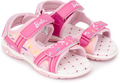 Barbie Girls Slip-on Sports Sandals(Red) at flipkart