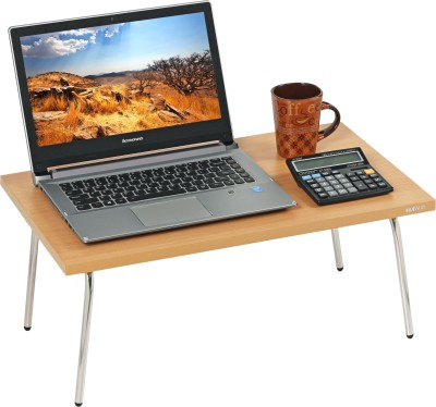 Bluewud Monroe Beech Engineered Wood Portable Laptop Table(Finish Color - Beech)