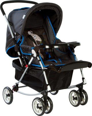 MeeMee Six Wheeled Pram Cum Rocker_Black(3, Black)
