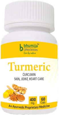 Bhumija Lifesciences Turmeric 400mg Supplements (60 Capsules)
