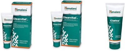 Himalaya clearvital anti wrinkle gel 60 ml and face wash 60 ml(120 ml)