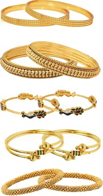 Zeneme Alloy Bangle Set(Pack of 10) at flipkart