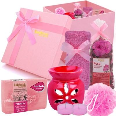 BodyHerbals Rose Soap Spa Set (Rose Geranium Bathing Bar with Natural loofah (100 grams)(Set of 6)