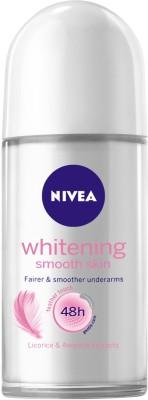 NIVEA Whitening Smooth Skin Deodorant Roll-on  -  For Women  (50 ml)