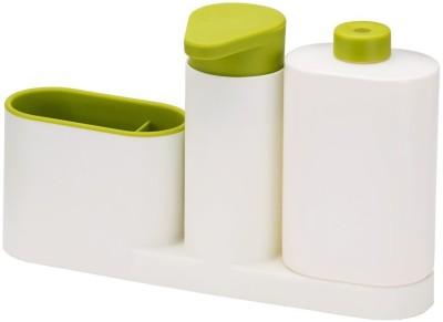 Joseph Joseph 85082_Joseph Joseph White, Green Kitchen Tool Set(Sink Base Caddy Set Soap Pump & Detergent Bottled) at flipkart
