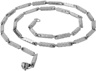 Dare for Voylla Artificial Classic Plain Silver Plated Stainless Steel Chain  available at flipkart for Rs.379