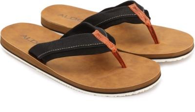 ALDO Men Black Leather Sports Sandals at flipkart