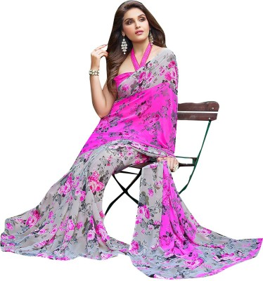 Shaily Retails Printed Daily Wear Georgette Saree(Multicolor)