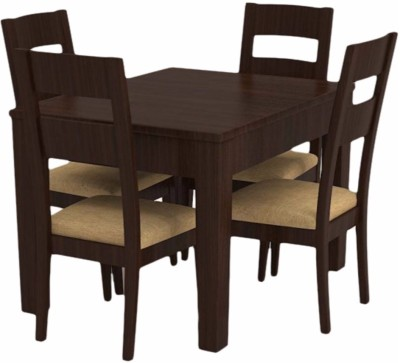 Caspian Furnitures Solid Wood 4 Seater Dining Set(Finish Color - Brown)