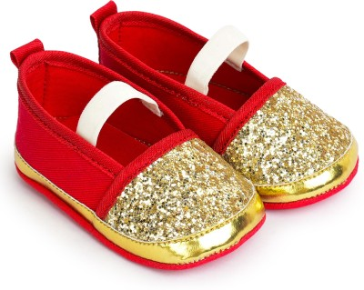 Barbie BB1EBL2106 GOLD/RED Booties(Toe to Heel Length - 11 cm, GOLD/RED)