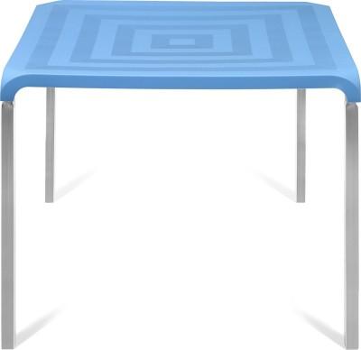 Nilkamal Novella Plastic 4 Seater Dining Table(Finish Color - Blue)  available at flipkart for Rs.3533