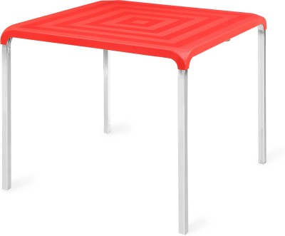 Nilkamal Novella Plastic 4 Seater Dining Table(Finish Color - Red)  available at flipkart for Rs.3347